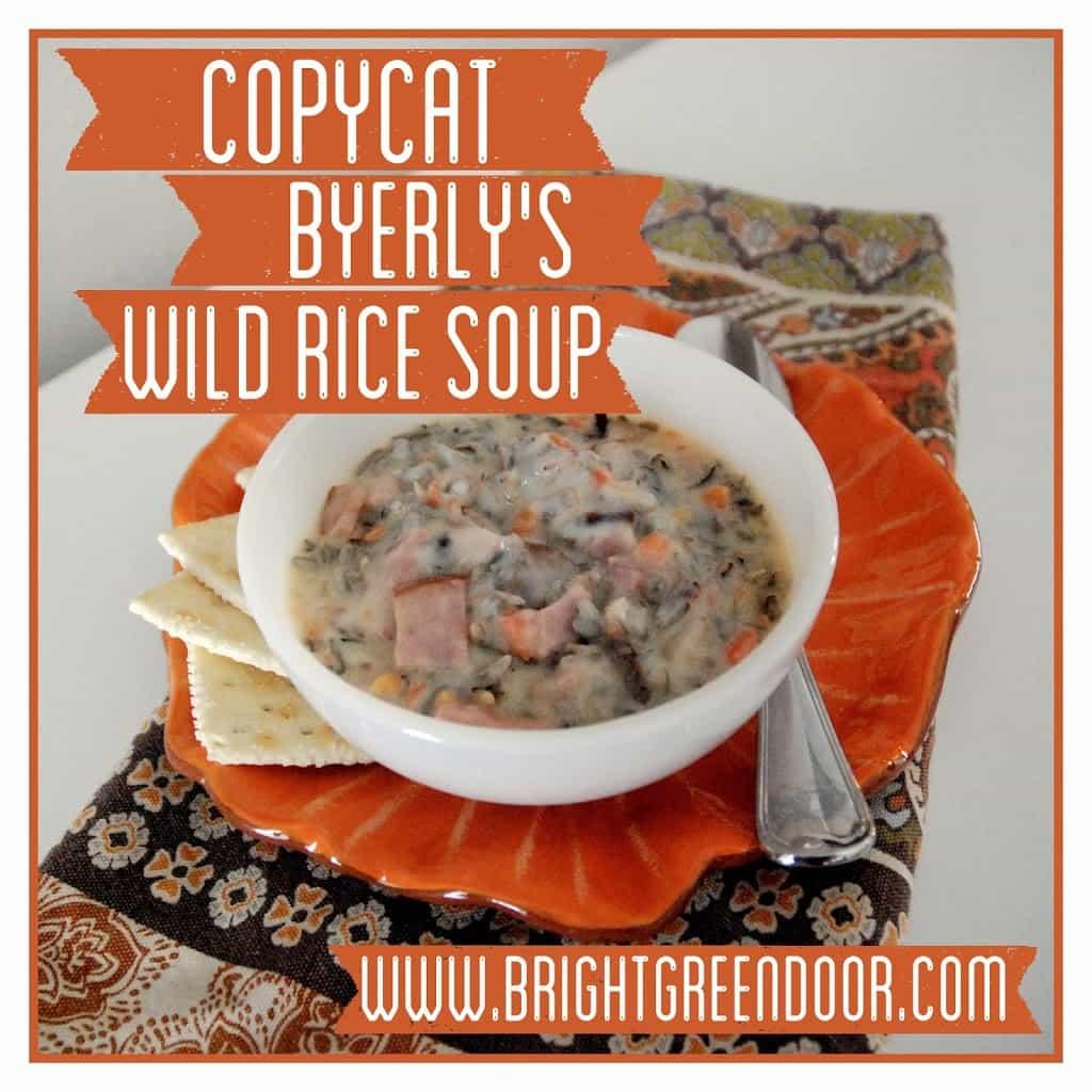 Copycat Byerly's Wild Rice Soup