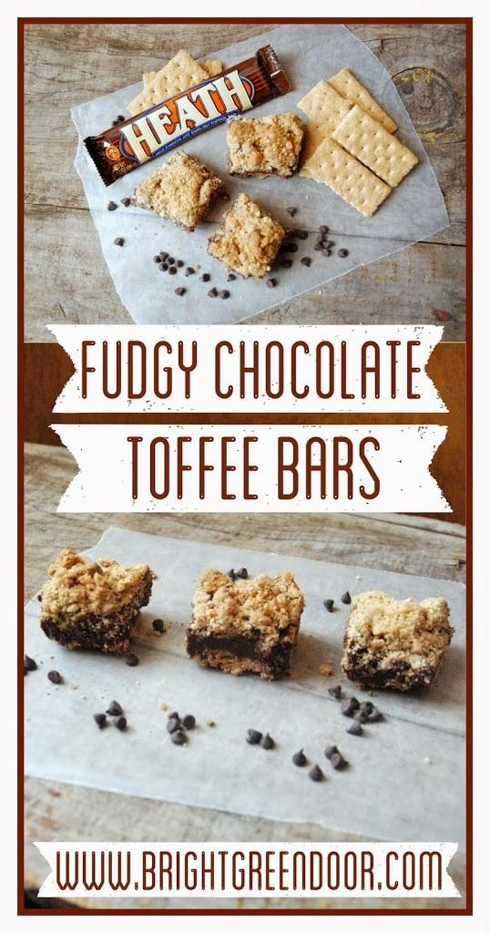 Fudgy Chocolate Toffee Bars