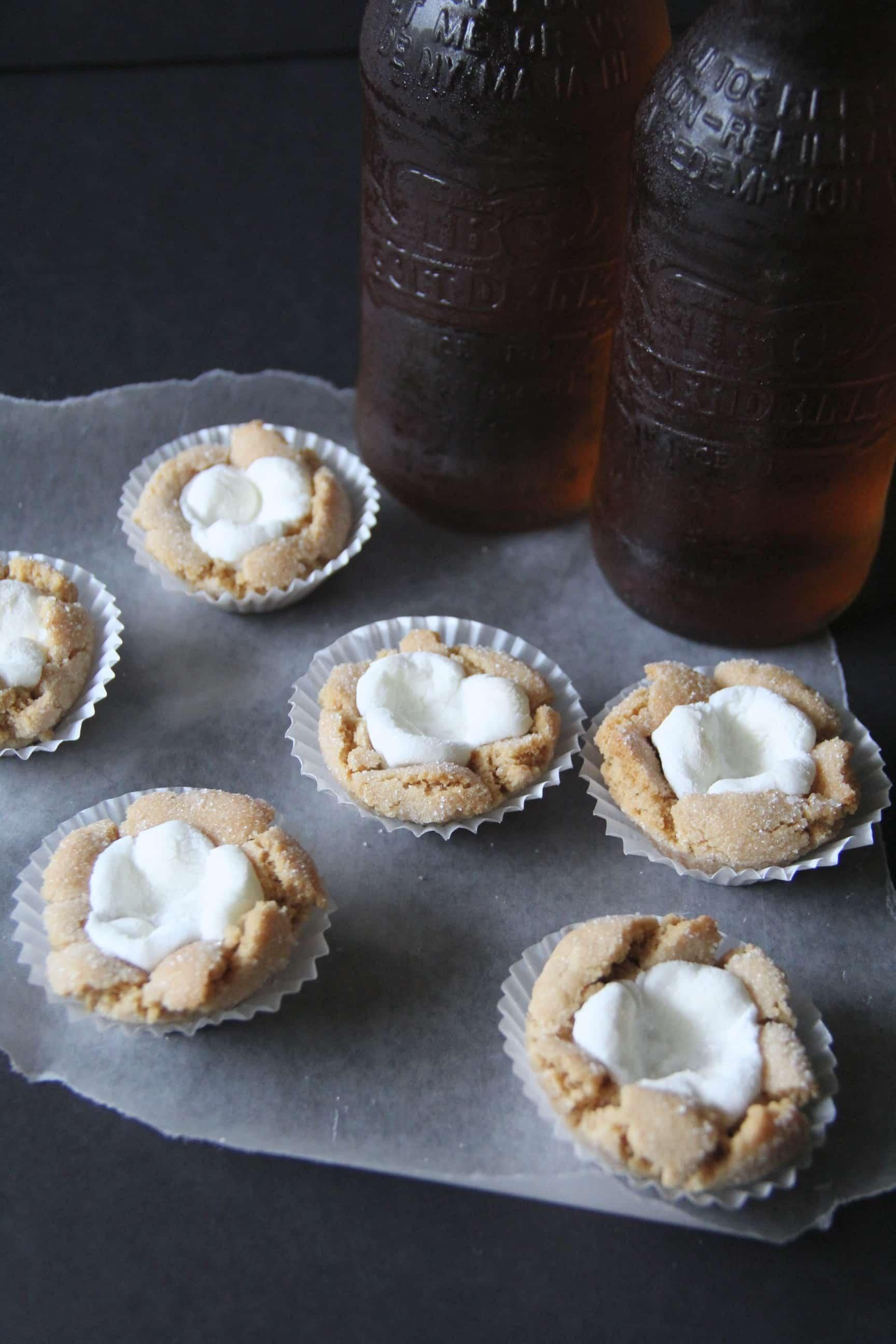 Marshmallow Cookies with Cream Soda