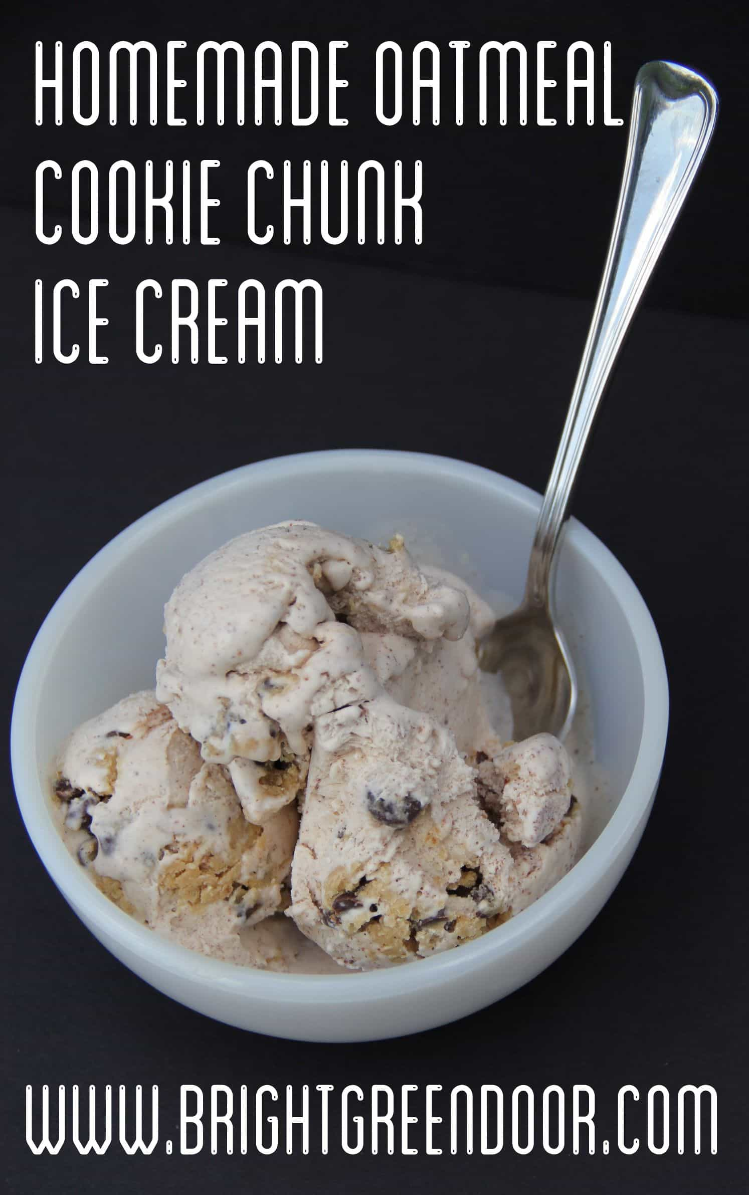 Oatmeal Cookie Chunk Homemade Ice Cream