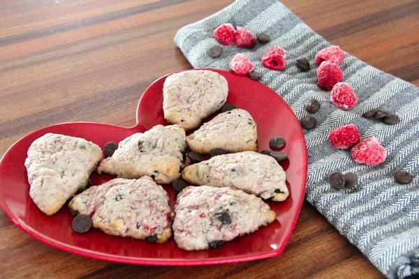 Valentines Day Chocolate Raspberry Scones