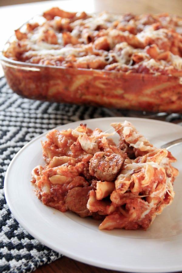 Baked Turkey Mostaccioli
