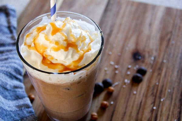 Recipe for Salted Caramel Iced Mocha at Home