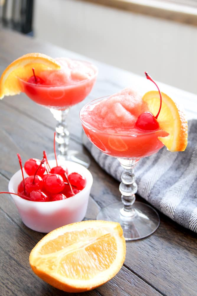 Orange Cherry Frozen Drink
