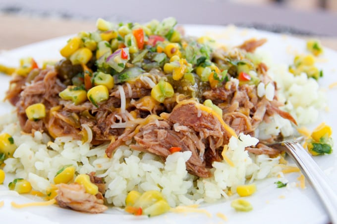 Mexican Pork over White Rice