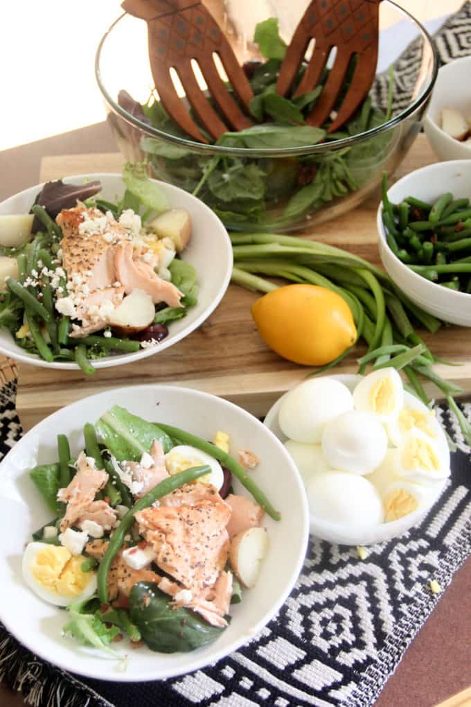 Salmon, Egg, and Green Bean Salad