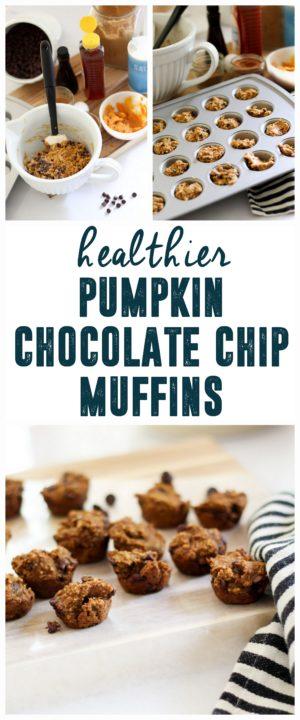 Healthier Pumpkin Chocolate Chip Muffins