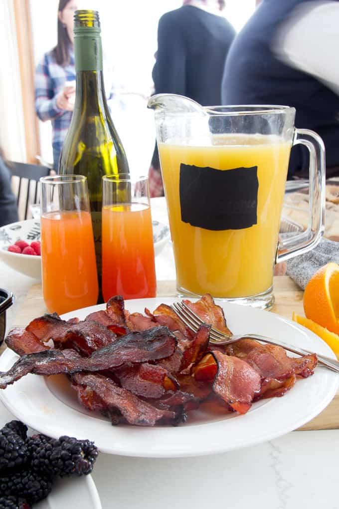 Mimosas and Bacon for Brunch