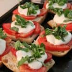 Simple Garden Bruschetta Made From Tomatoes and Basil